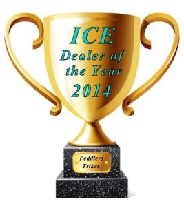 PEDDLERS TRIKES ICE Dealer of the Year